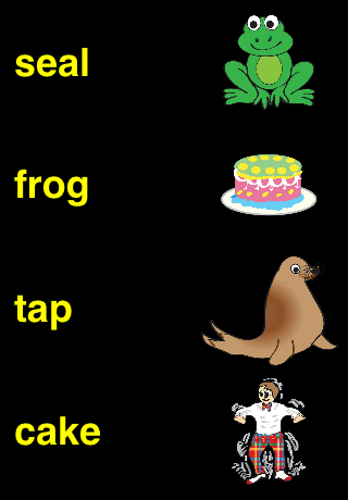 Screenshot Match Words to Image for Kids to Learn to Read Free