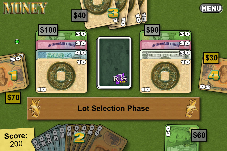 Screenshot Reiner Knizia&#8217;s Money