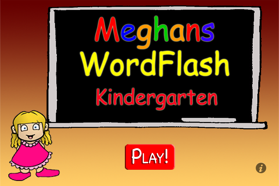Screenshot Meghan's FlashCards Kindergarten